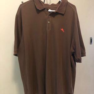 Brown Tommy Bahama polo size XXL